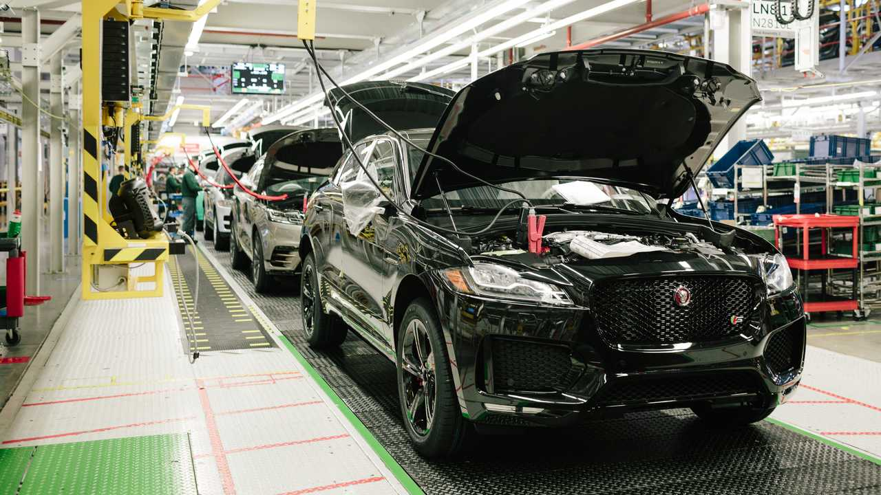 Jaguar F-Pace production at Solihull England