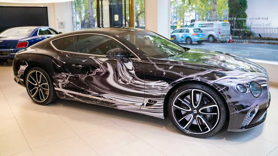 Icelandic artist and London car dealer create one-off Bentley art car