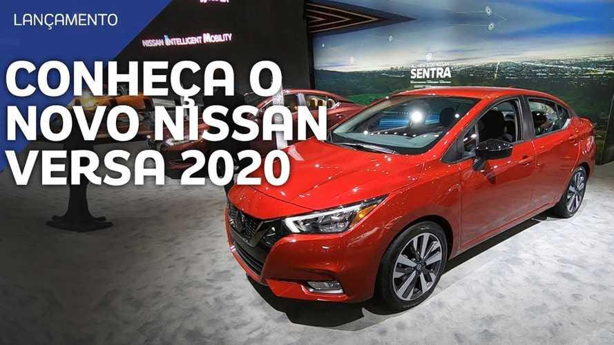 Vídeo: Novo Nissan Versa em detalhes direto de Los Angeles