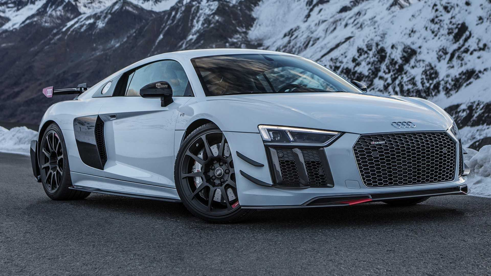 Audi R8 V10 Plus With Performance Parts Looks Epic In The Alps