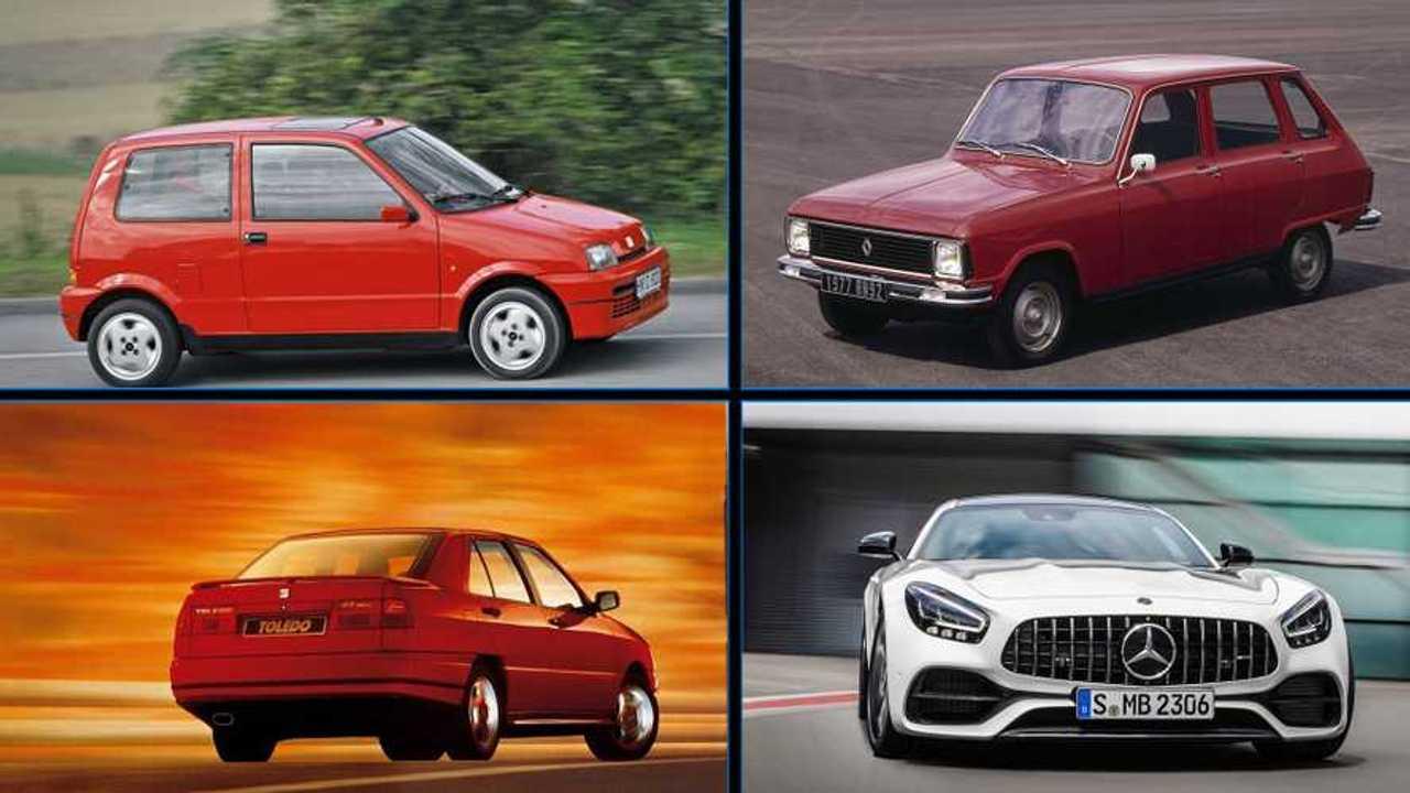 Mosaico coches mismo nombre, distinta marca