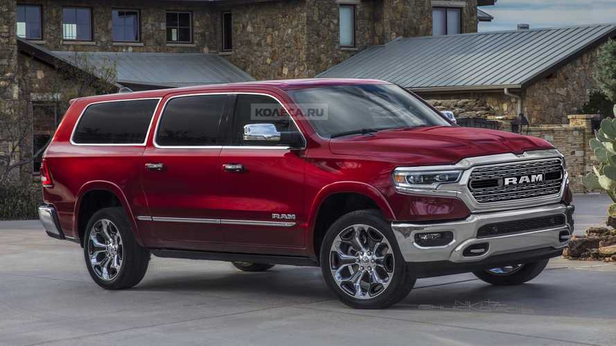 Ram SUV Fan Renderings Reveal A Handsome Full-Size People Mover