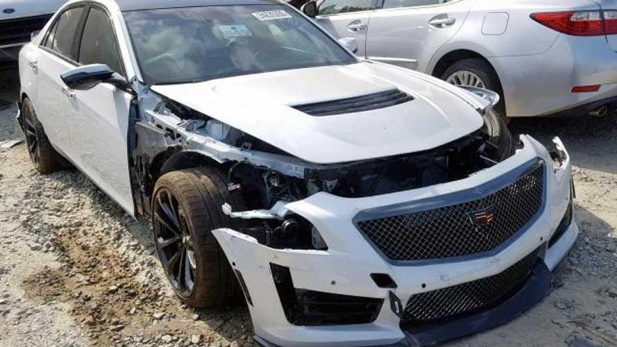 Bid On This Wrecked Cadillac CTS-V If You're Brave Enough