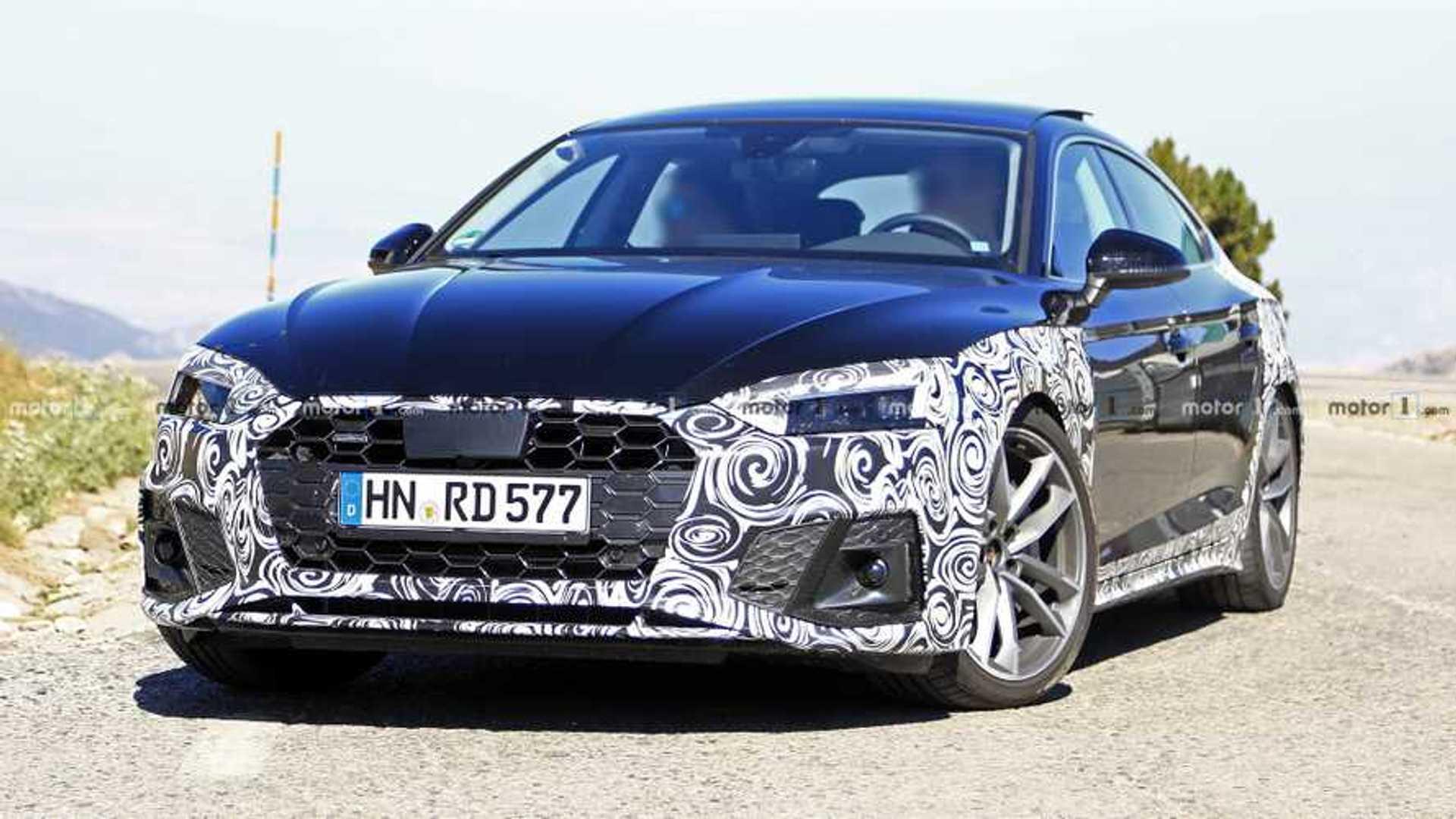 2020 - [Audi] A5 Coupé/Cab/SB restylée Audi-a5-sportback-facelift-spy-photo