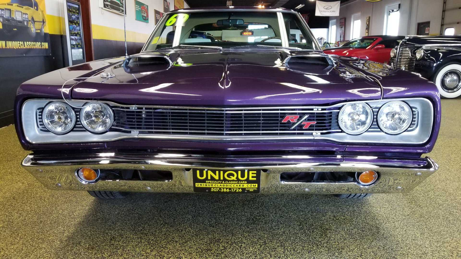 """[""""This 1969 Dodge Coronet R/T In Plum Crazy Is Royally Beautiful""""]"""