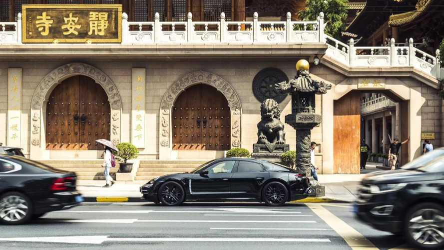 2020 Porsche Taycan prototype shows up in Shanghai