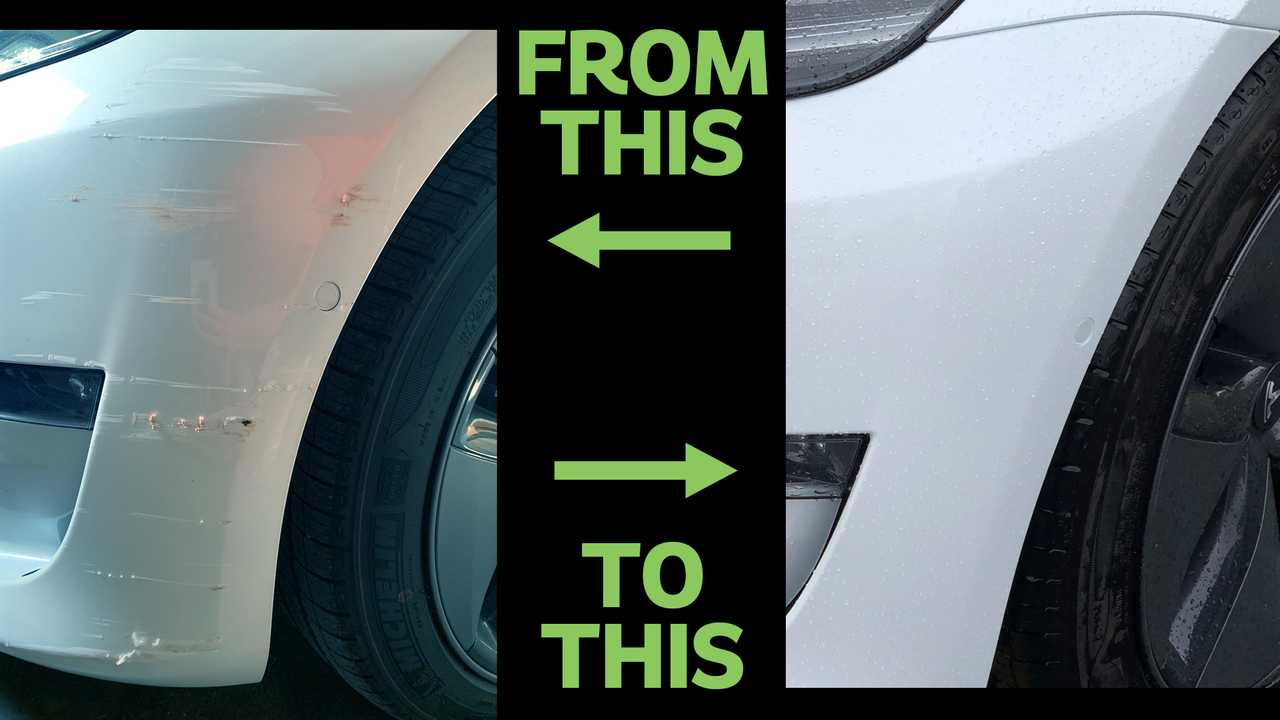 Buy Car Usa >> Scraping By: How I Got My Tesla Model 3 Front Bumper Fixed