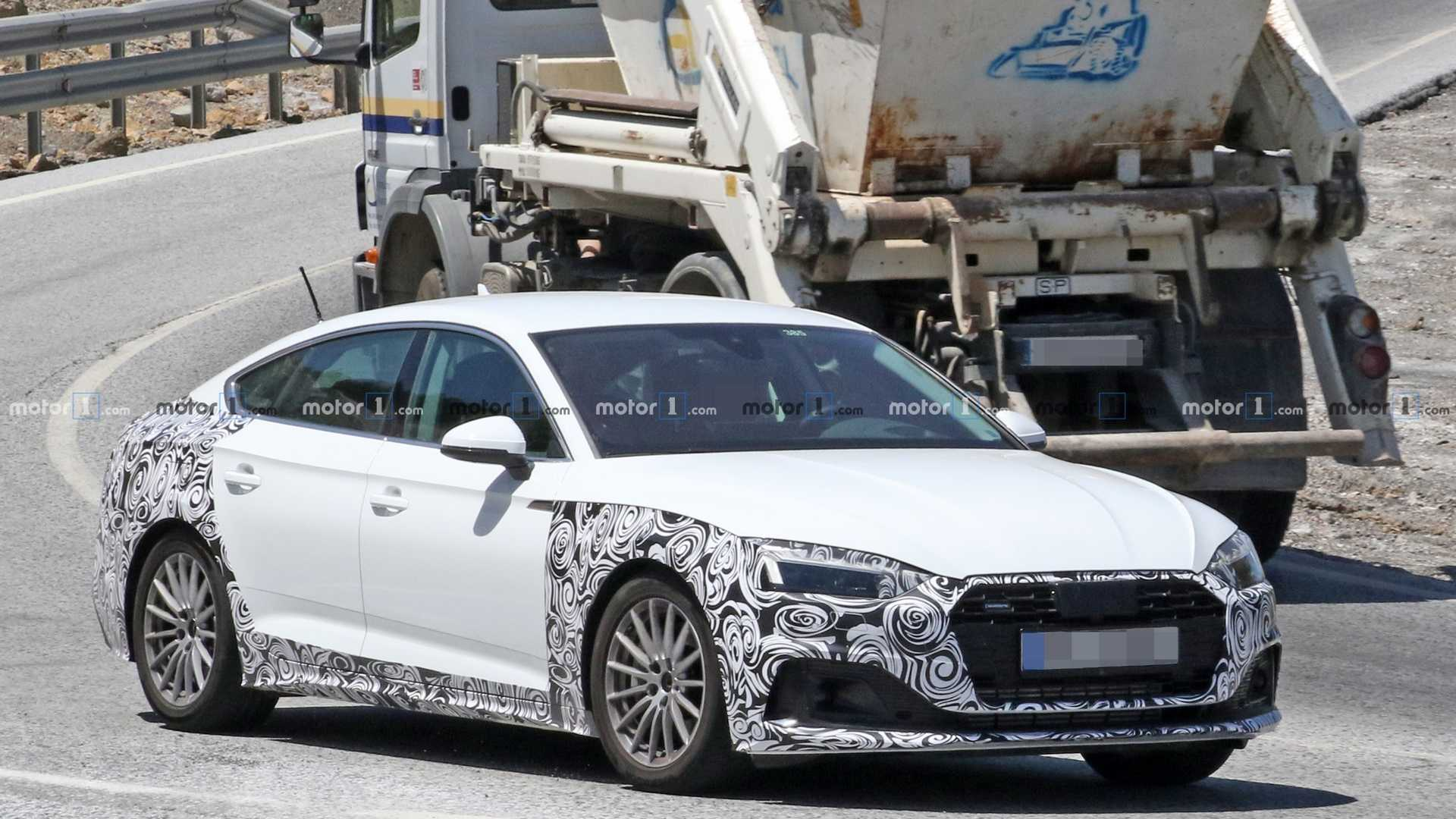 2020 Audi A5 Sportback Facelift Spotted Hot Weather Testing