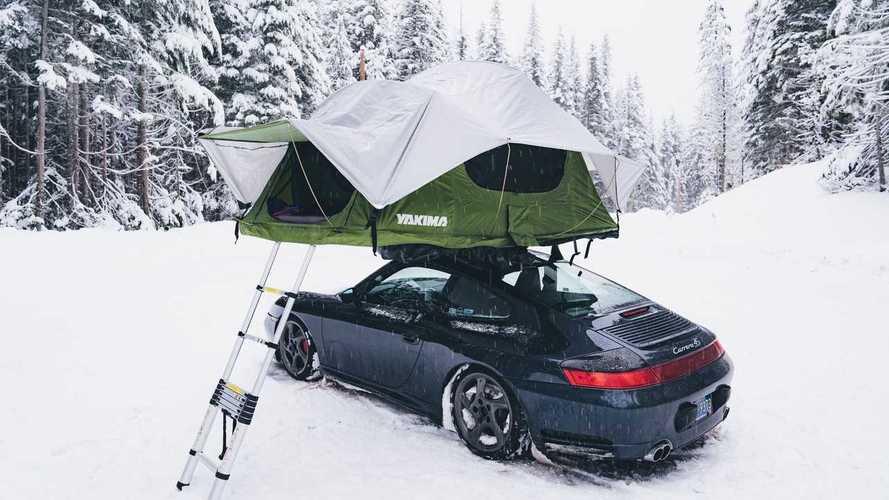 Porsche 911, in campeggio con una Carrera 4S