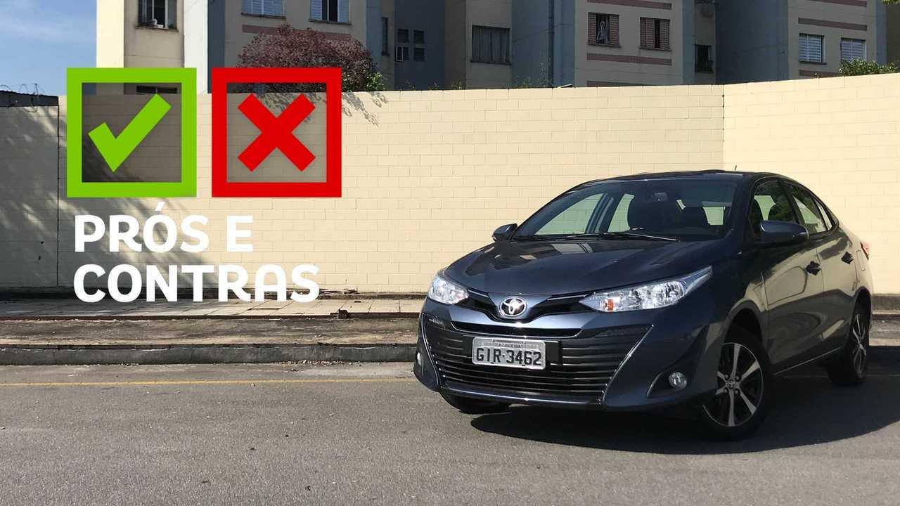 Toyota Yaris Sedan XS 1.5 CVT - Prós e Contras