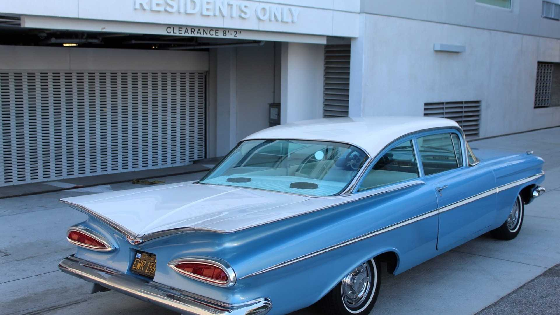 "[""Cool Off Summer With A Frost Blue 1959 Chevrolet Bel Air""]"