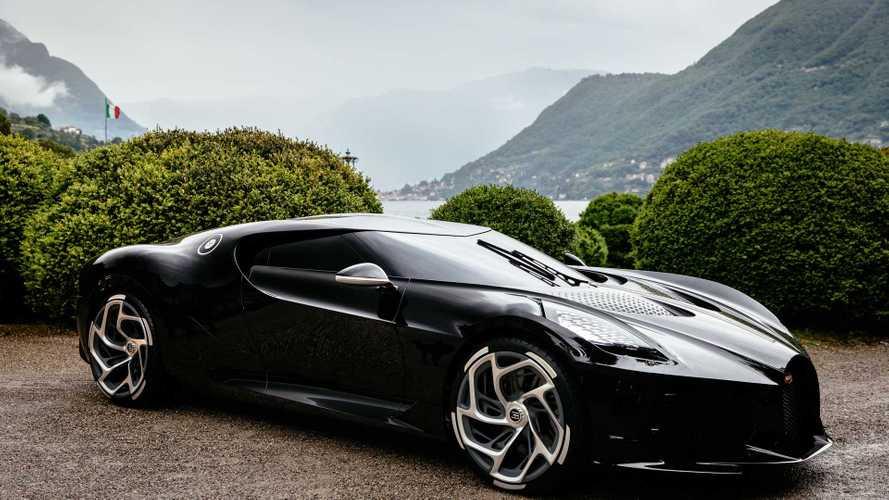 """A Bugatti """"fekete autója"""" nyerte a Concorso d'Eleganza dizájndíját"""