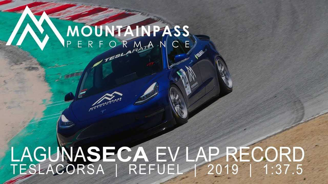 Did A Tesla Model 3 Really Break Laguna Seca's EV Lap Record?