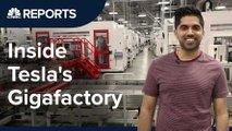 cnbc visits tesla gigafactory video