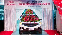 2011 Kia Sorento Rolls of Production Line