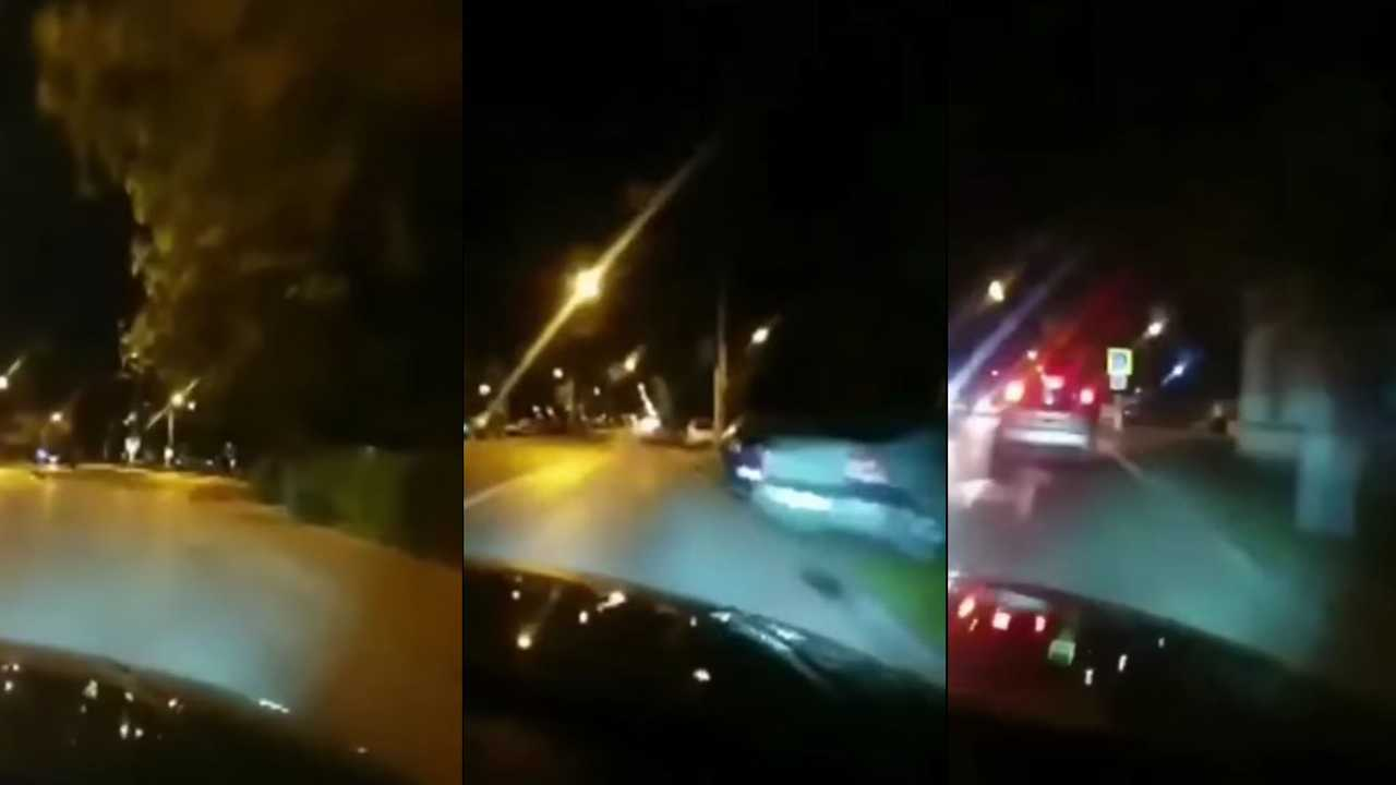 Románia baleset élőben