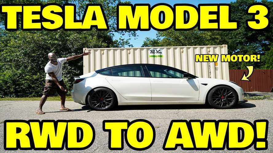 Here Are The Steps Required To Turn A Tesla Model 3 RWD Into AWD