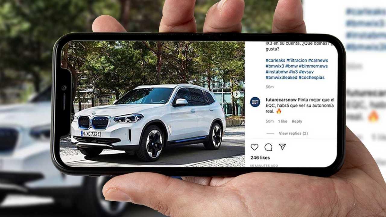 Copertina BMW iX3 Leak