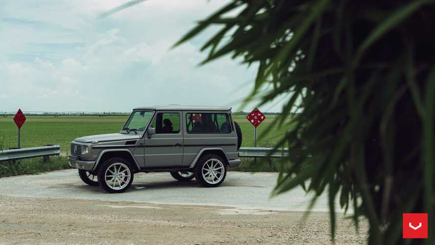 Three-door Mercedes G-Class on Vossen wheels