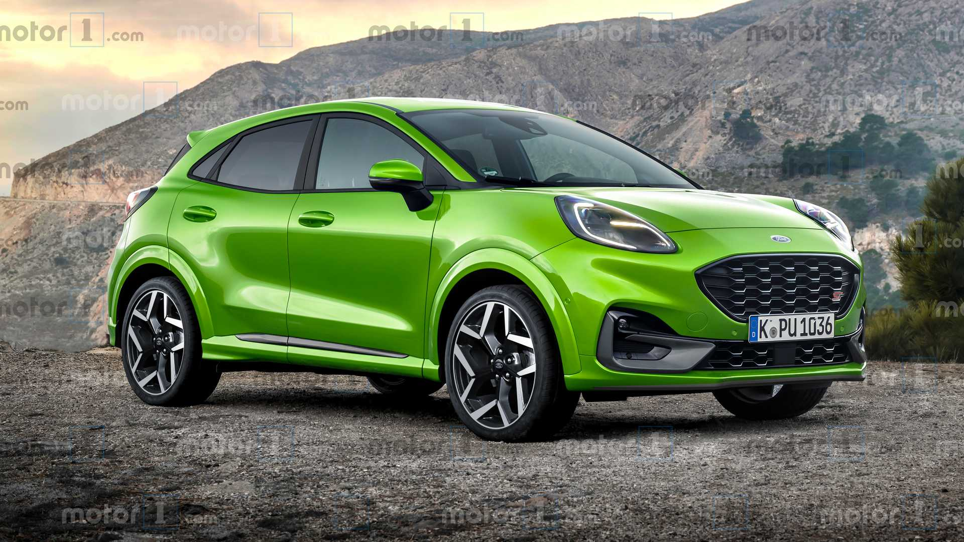 Ford Puma ST Rendering Previews The Crossover Hot Hatch