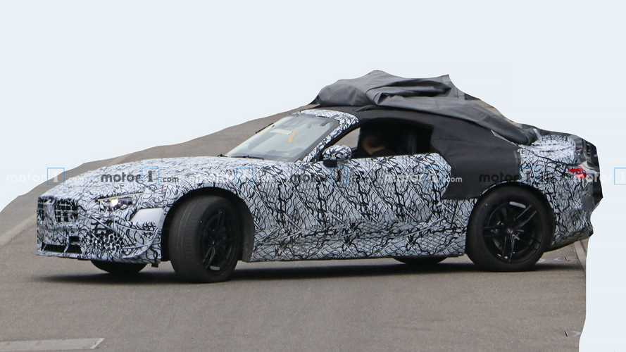 2022 Mercedes SL Spied Looking Sleek Despite Heavy Camo