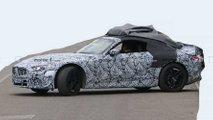 Neuer Mercedes SL sieht trotz schwerer Tarnung schnittig aus