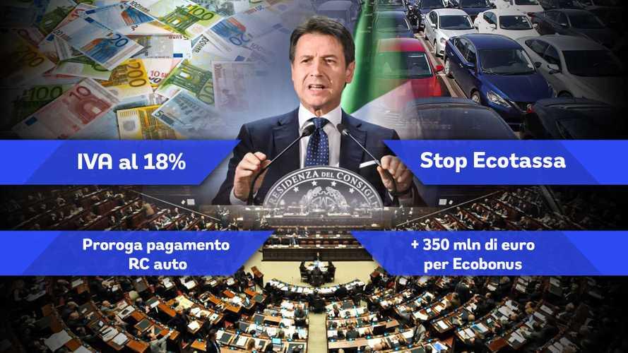 Nuovi incentivi auto, stop Ecotassa, IVA al 18%: le modifiche al Dl Rilancio