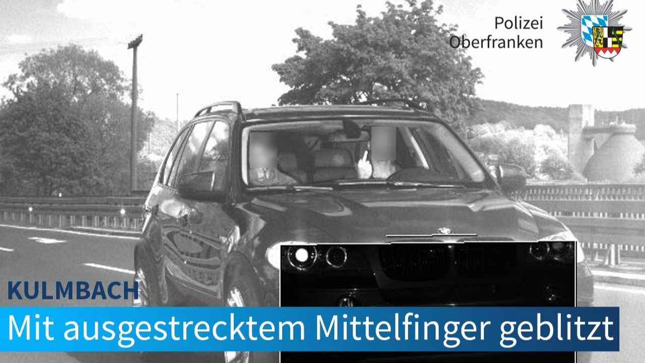 BMW X5 driver gives speed camera the middle finger