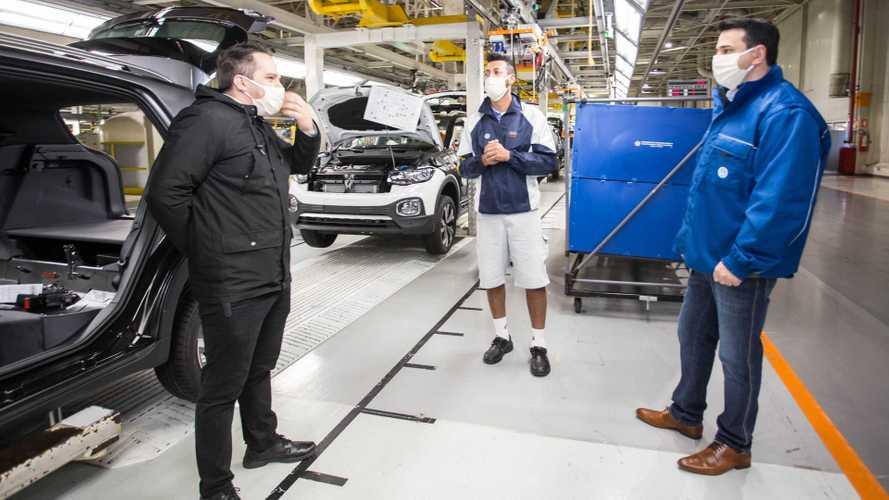 Volkswagen volta a produzir o T-Cross no Paraná após paralisação