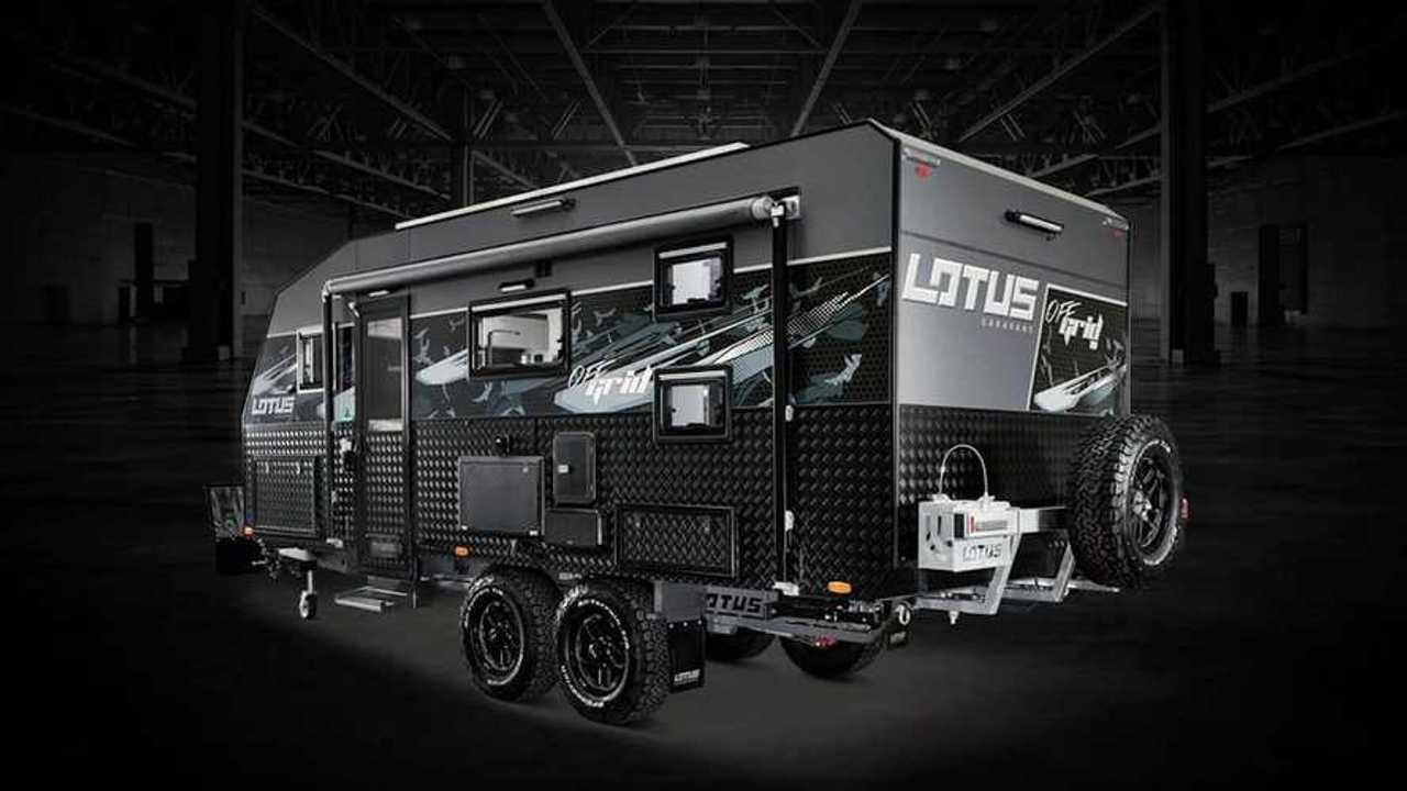 2020 Lotus Caravans Off Grid - Rear Quarter View