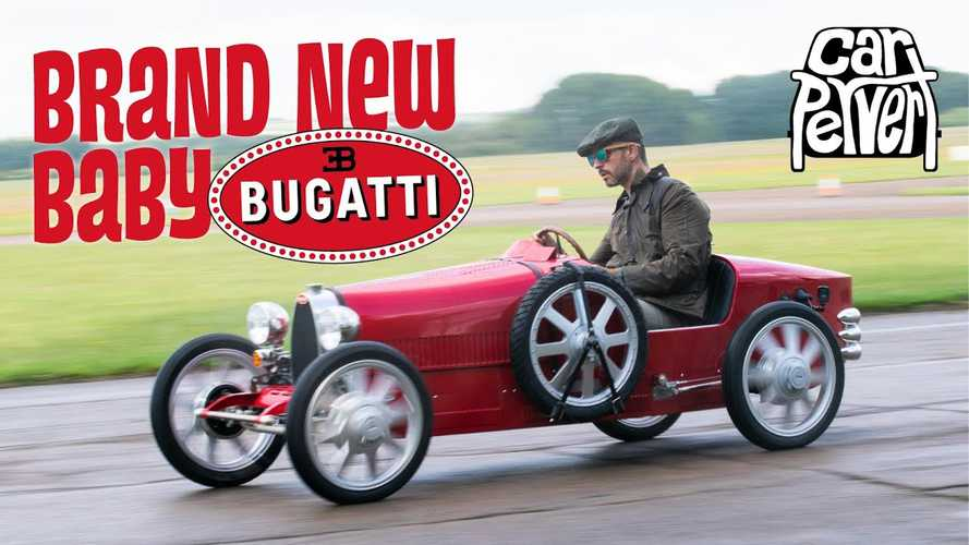 Watch Bugatti's three-quarter size Type 35 EV replica driven by CarPervert