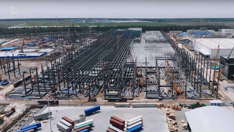 Tesla Giga Shanghai Construction Progress April 22, 2020: Video