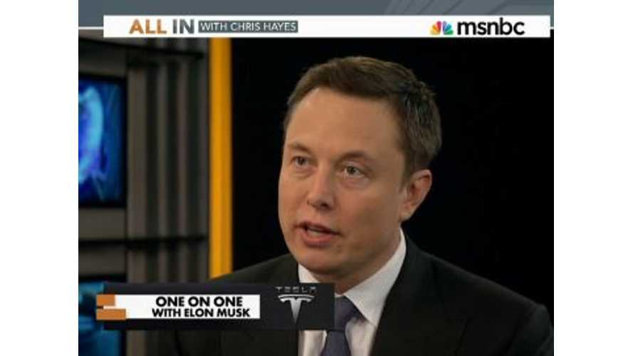 Tesla CEO Elon Musk On MSNBC All In - Videos