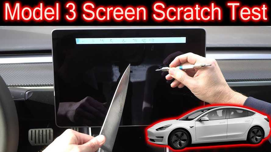 Does The Tesla Model 3 Screen Scratch? Video