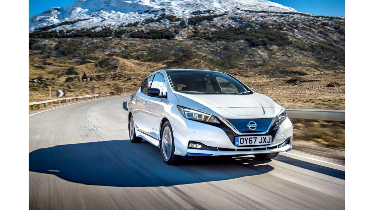 In 2018 Nissan Sold In Europe 40,699 LEAFs