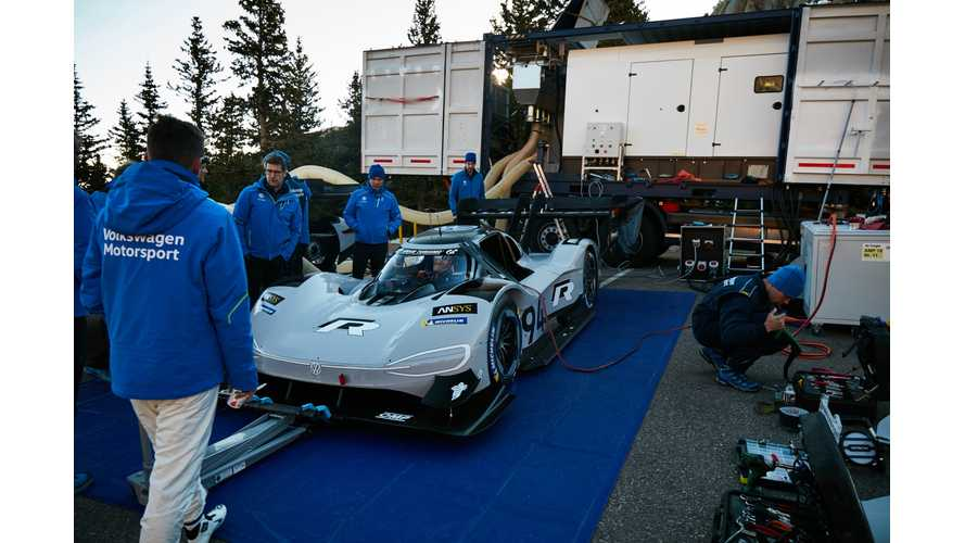 Volkswagen Uses Unique Rapid Charge For I.D. R Pikes Peak