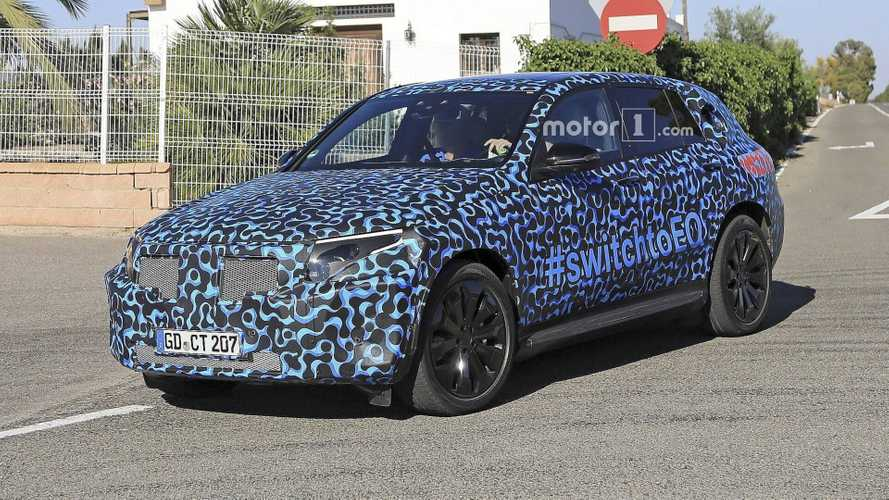 Mercedes EQ C Swaps Camo For Funky Wrap In New Spy Shots