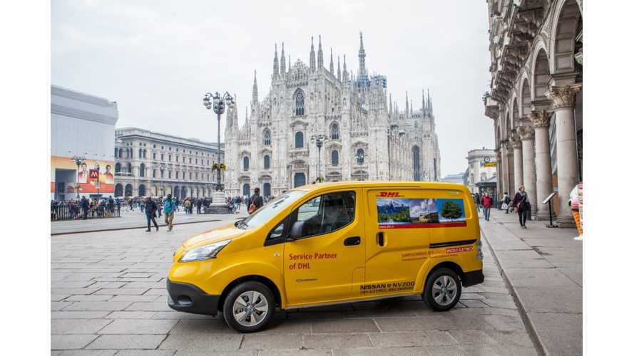 DHL Express Puts 50 Nissan e-NV200 To Work In Milan And Rome