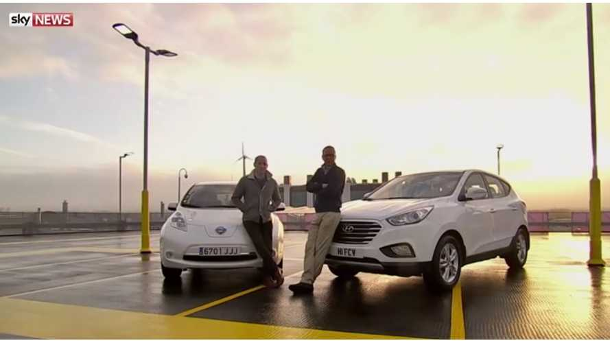 Electric & Hydrogen Cars Race From London To Paris - Video