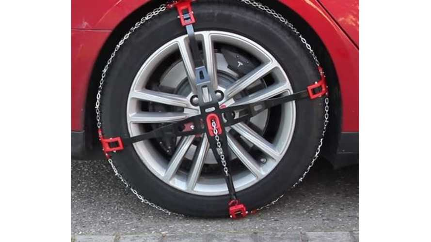 How-To Video: Installing Snow Chains On Tesla Model S