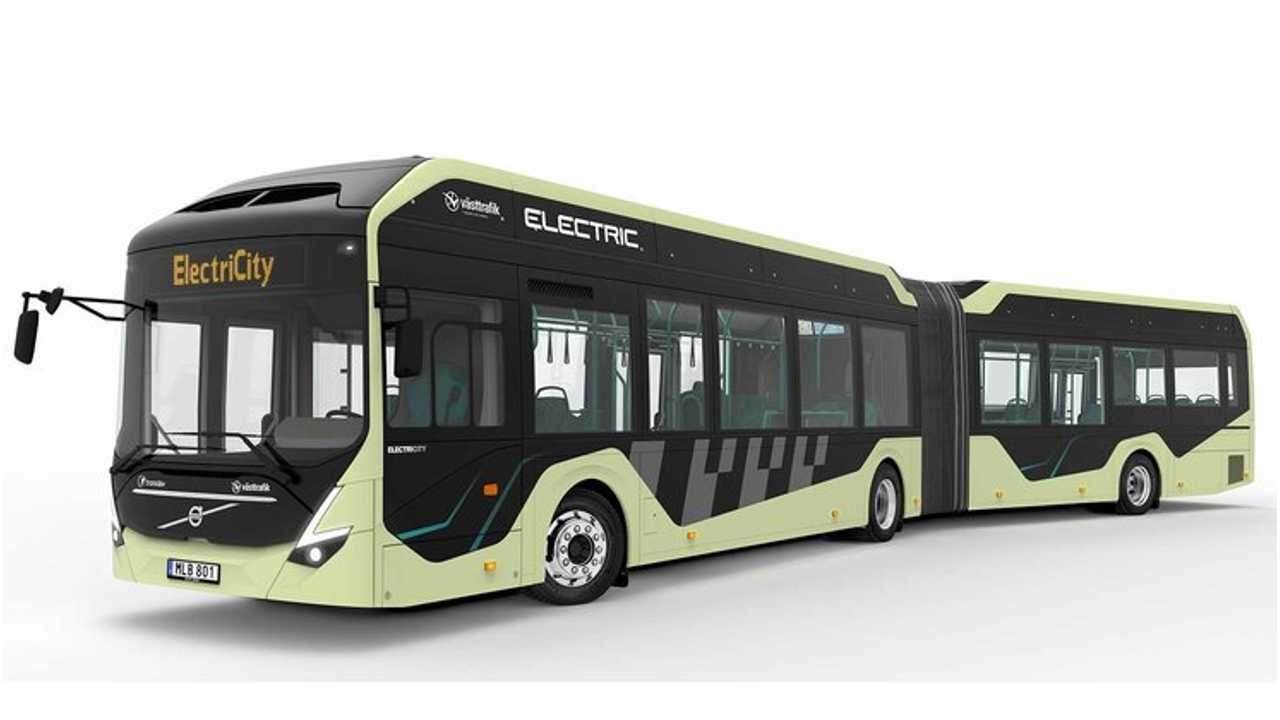 Volvo Introduces Electric Articulated Buses In Sweden