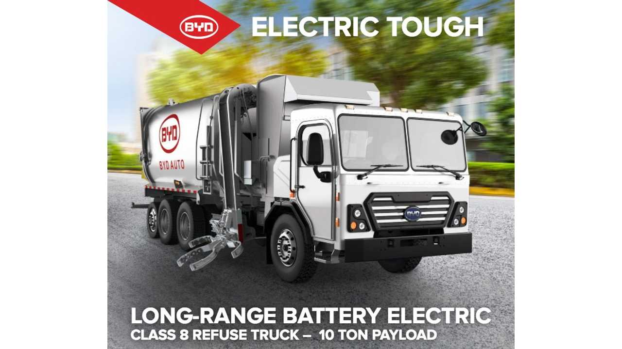 BYD Debuts Electric Garbage Truck With 76 Miles Range, Saves $13,000 Per Year In Service