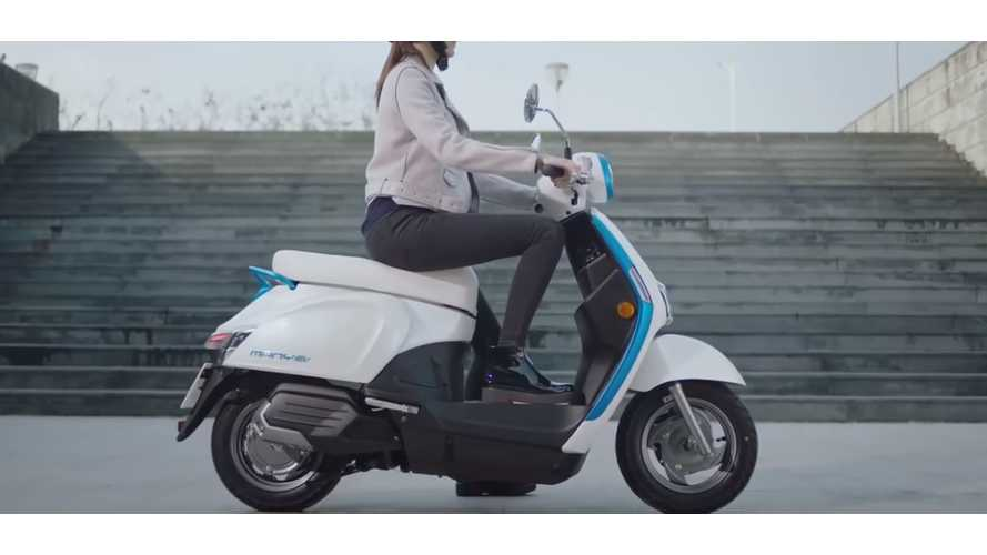 Watch How Kymco's New Battery Swapping Electric Scooters Work
