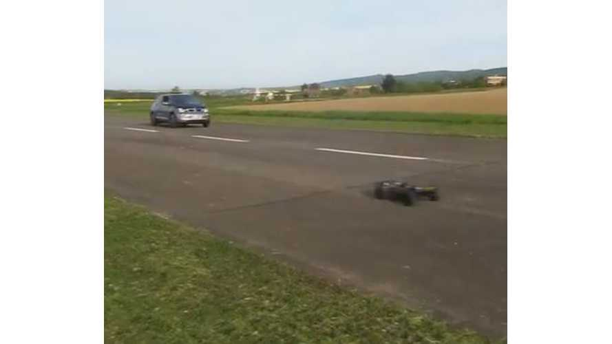 BMW i3 Versus Remote Control Car - Race Video