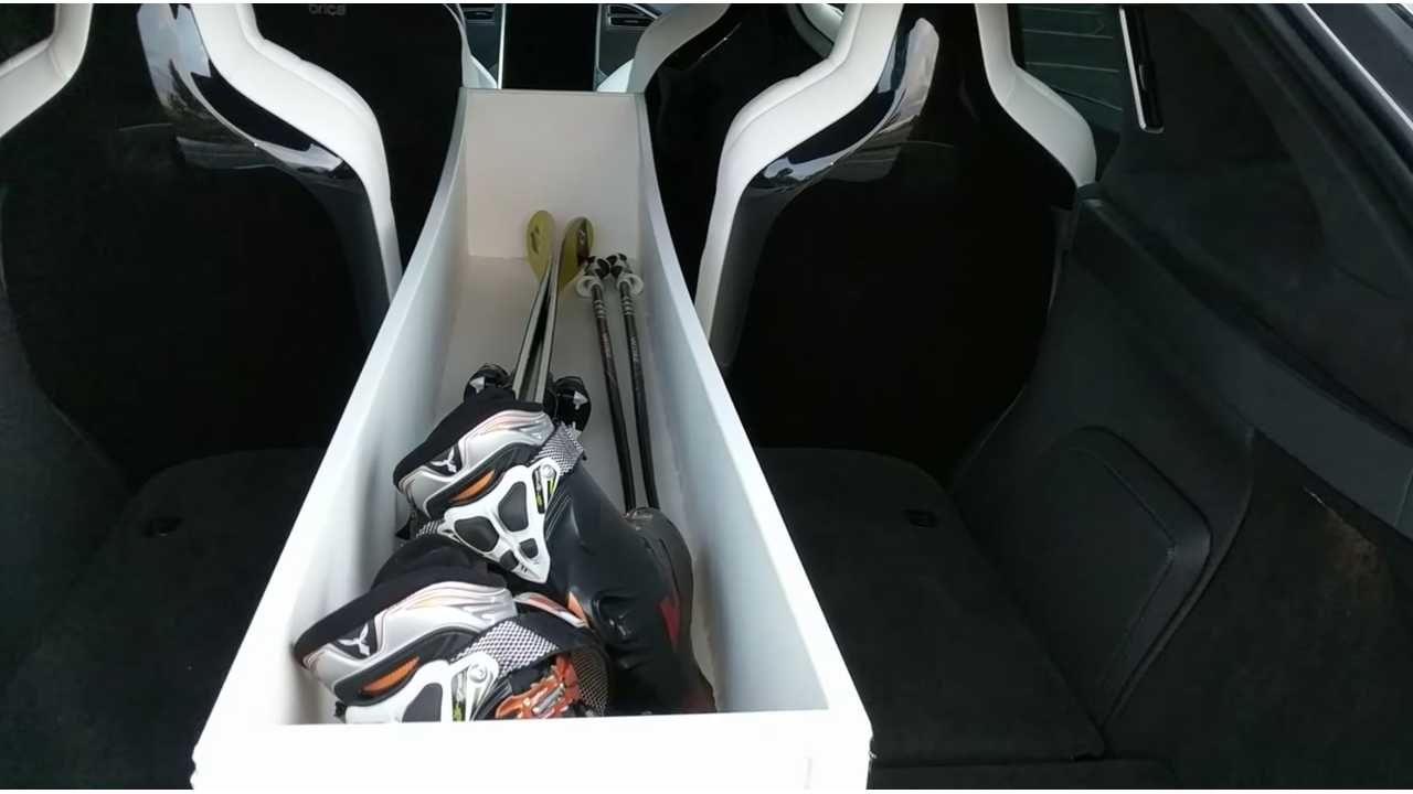 Tesla Model X - Homemade Watertight Ski Gear Tote