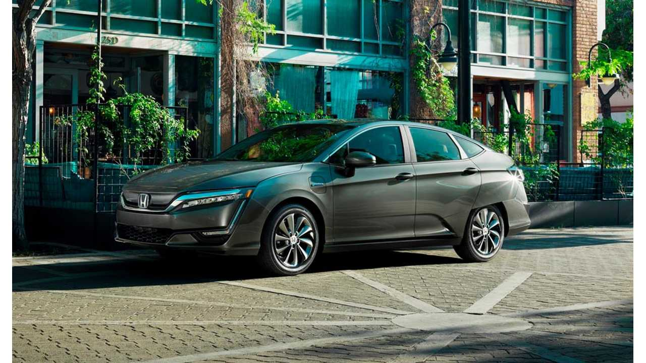 The Honda Clarity become the first vehicle to be offered in both fuel cell, and all-electric trim in the US - a plug-in hybrid will also be added shortly.