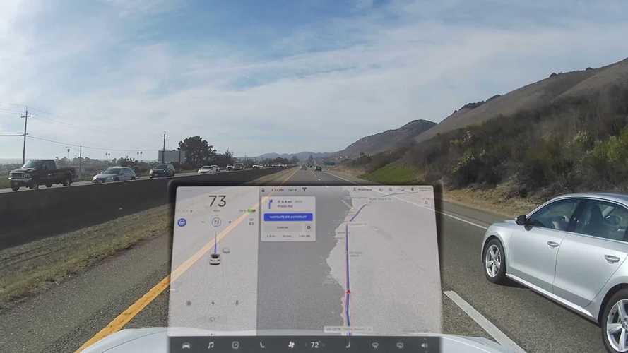 Watch Tesla Model 3 Navigate On Autopilot: New UI Images + Videos