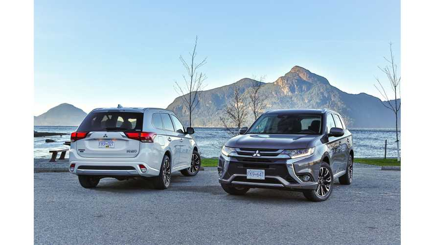 Mitsubishi Outlander PHEV Sales In U.S. Are Far Behind Canada