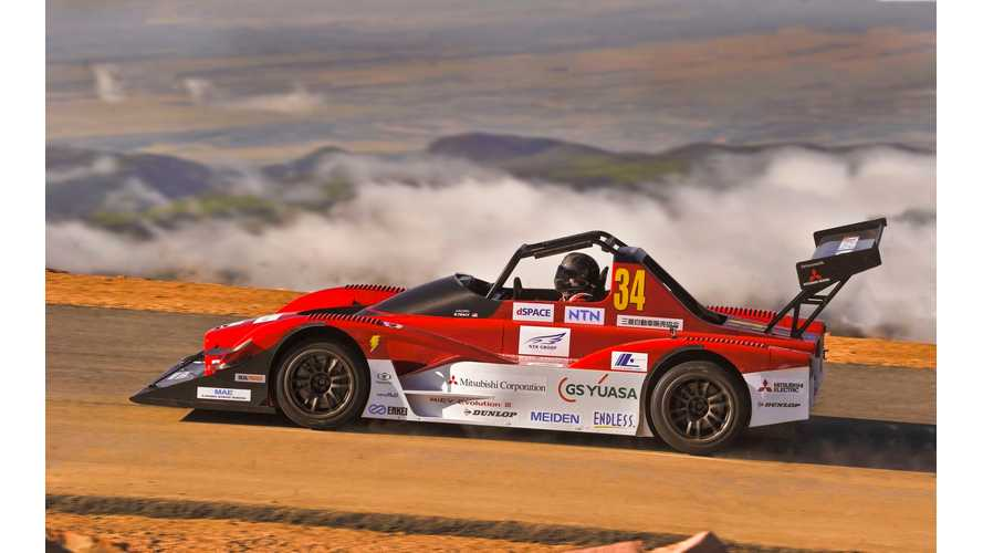 Mitsubishi MiEV Evolution III Second Overall At 2014 Pikes Peak!