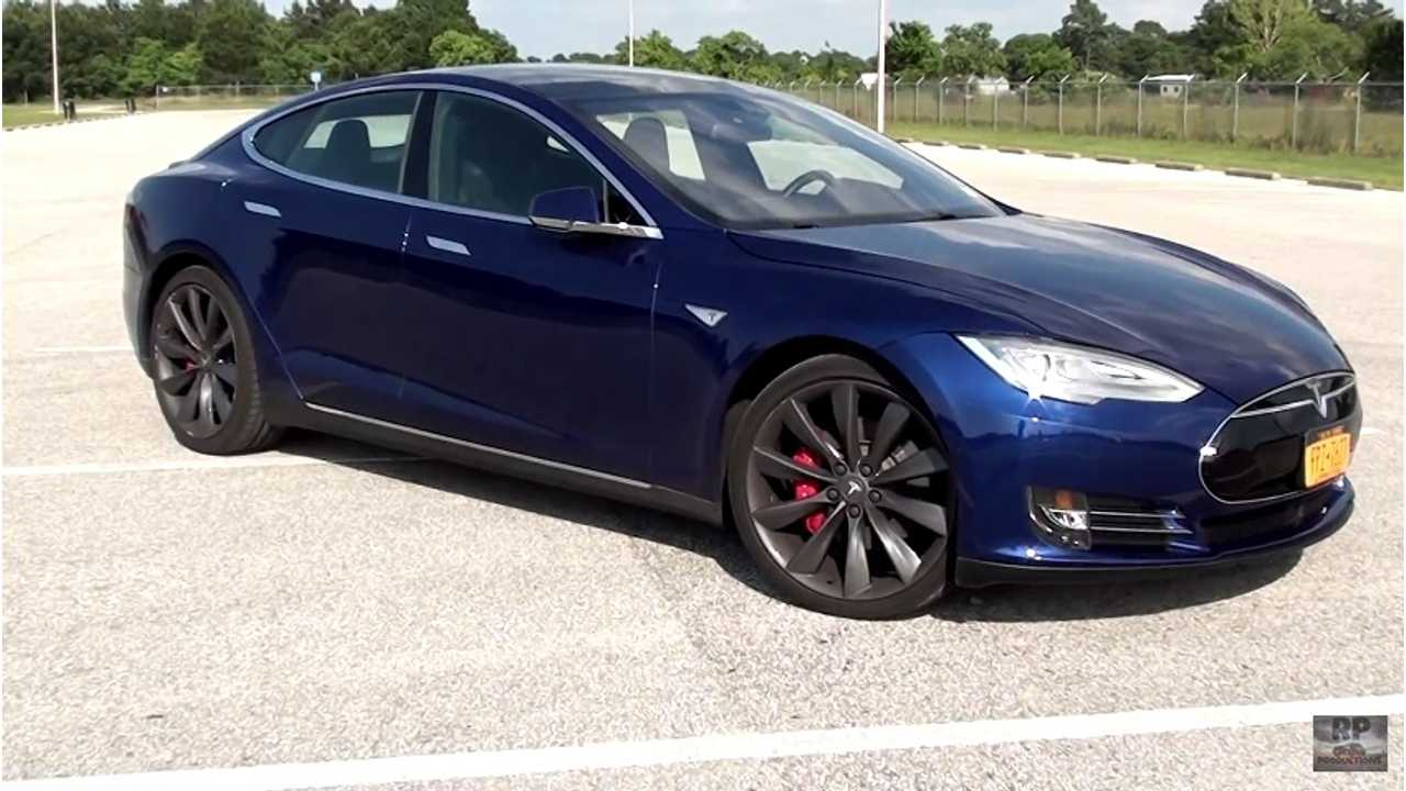 2016 Tesla Model S P90D Driving Review - Ludicrous Mode